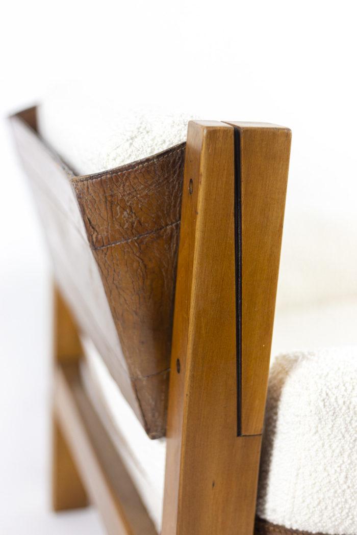 pierre chapo fauteuil s15 orme cuir dossier