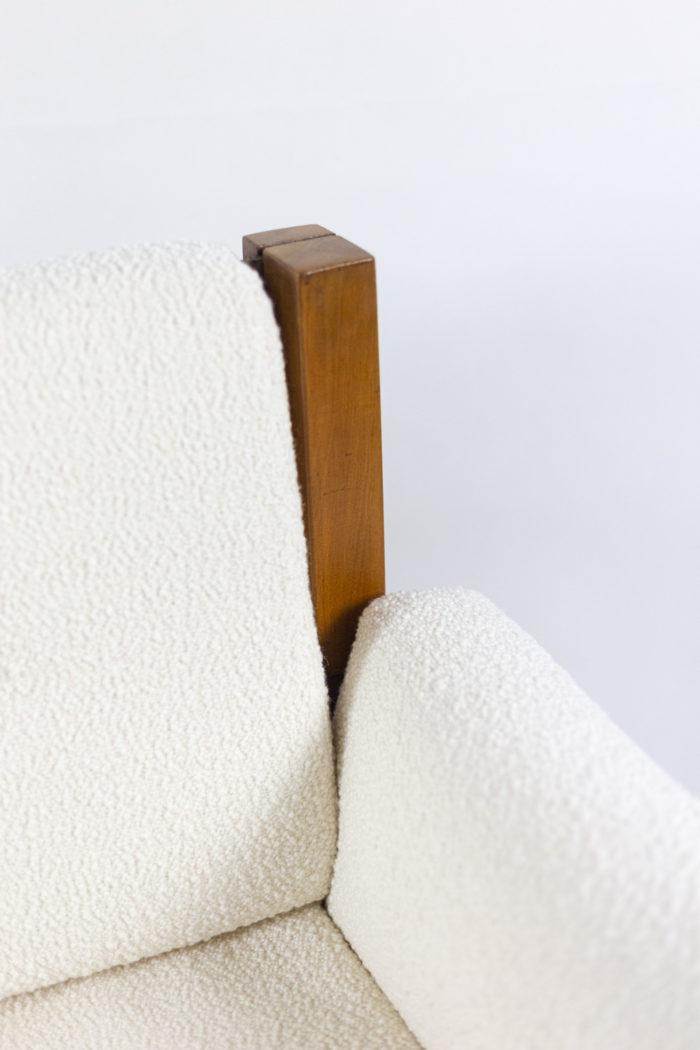 pierre chapo fauteuil s15 orme cuir tissu lelièvre lama craie