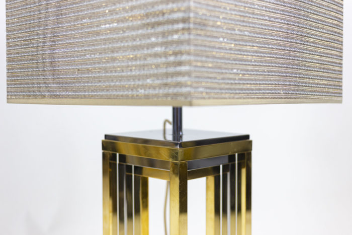 romeo rega lampes métal chromé et doré carré ajouré
