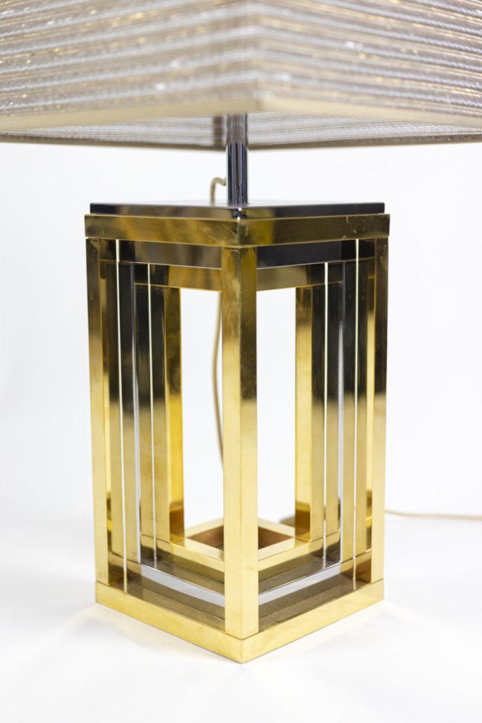 romeo rega lampes métal chromé et doré carrée