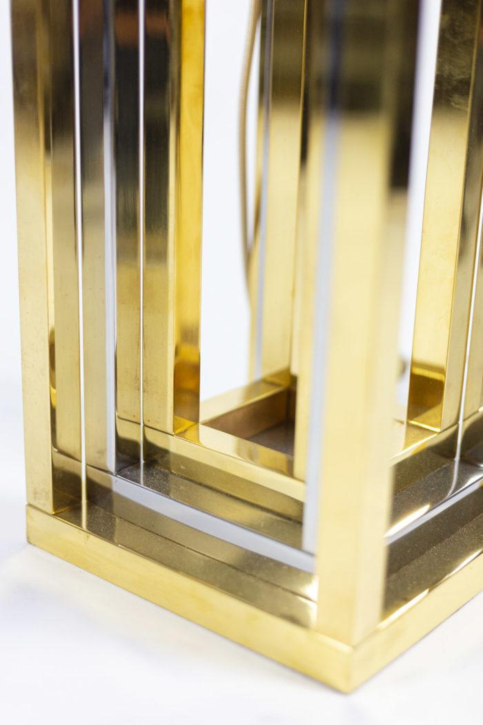 romeo rega lampes métal chromé et doré détail