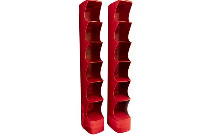 valérie doubroucinskis étagères abs rouge magasins rodier