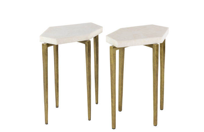 Rock crystal end tables 1