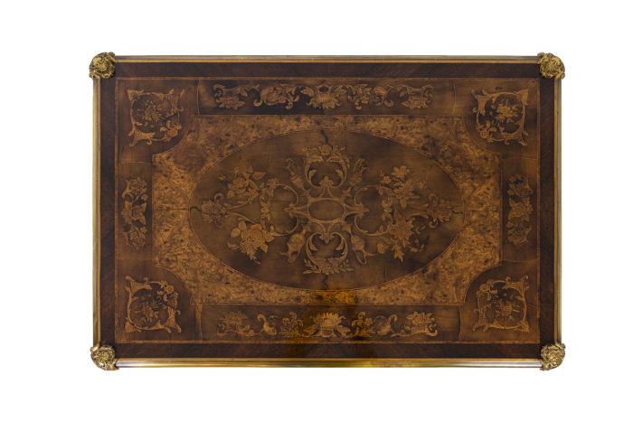 Bureau marquété style Louis XV plateau