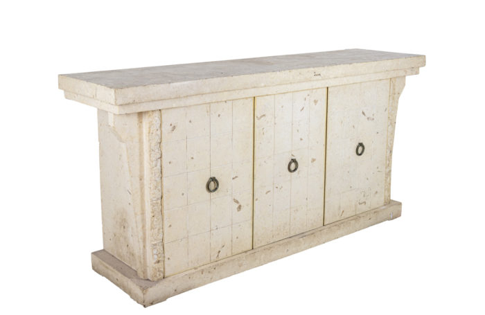 Sideboard in white travertine 1