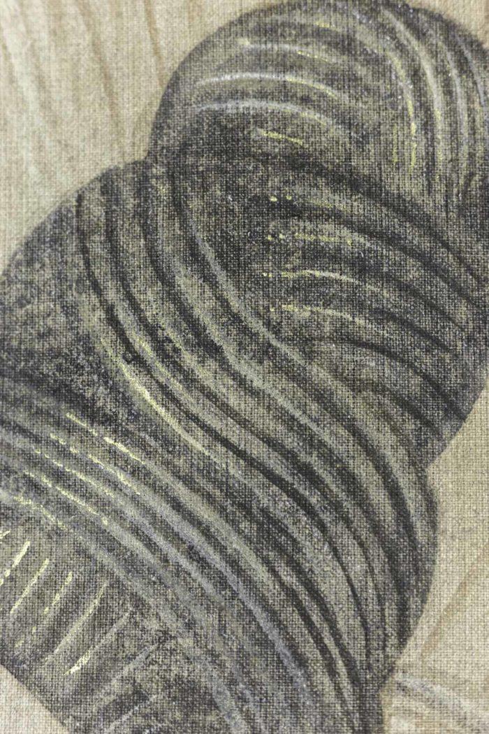 Femme Art déco éventail cheveux