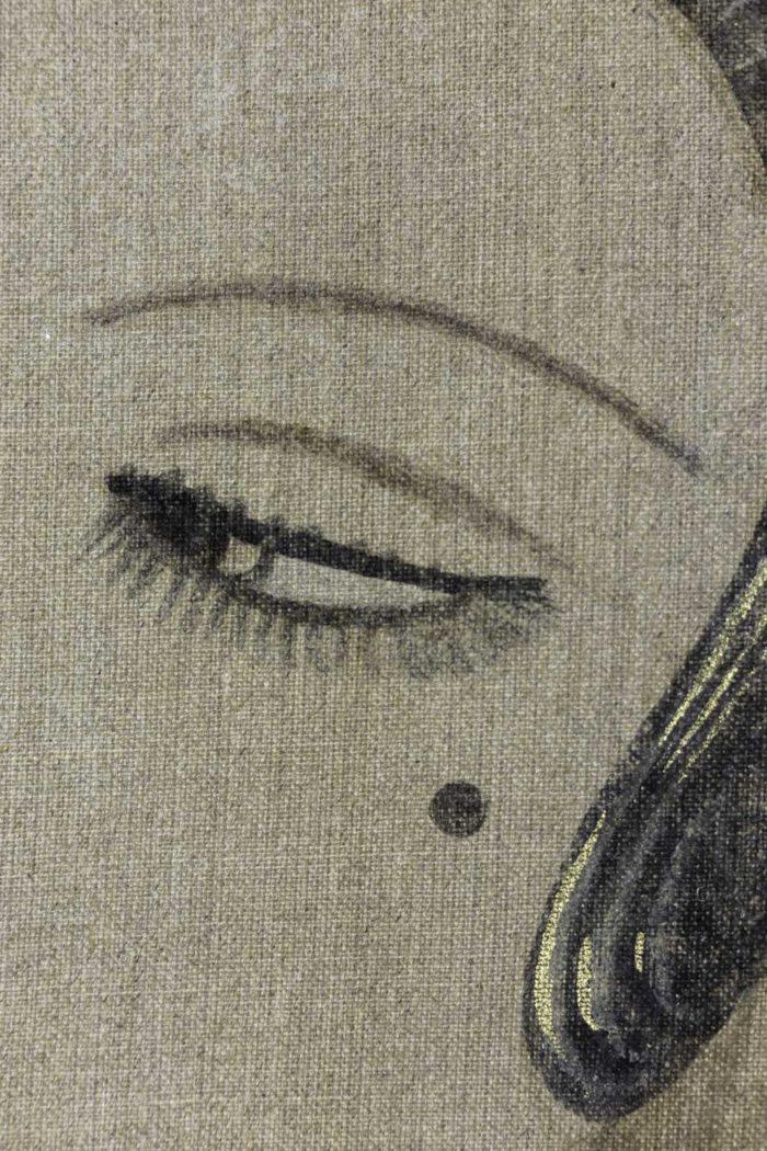 Femme Art déco éventail oeil