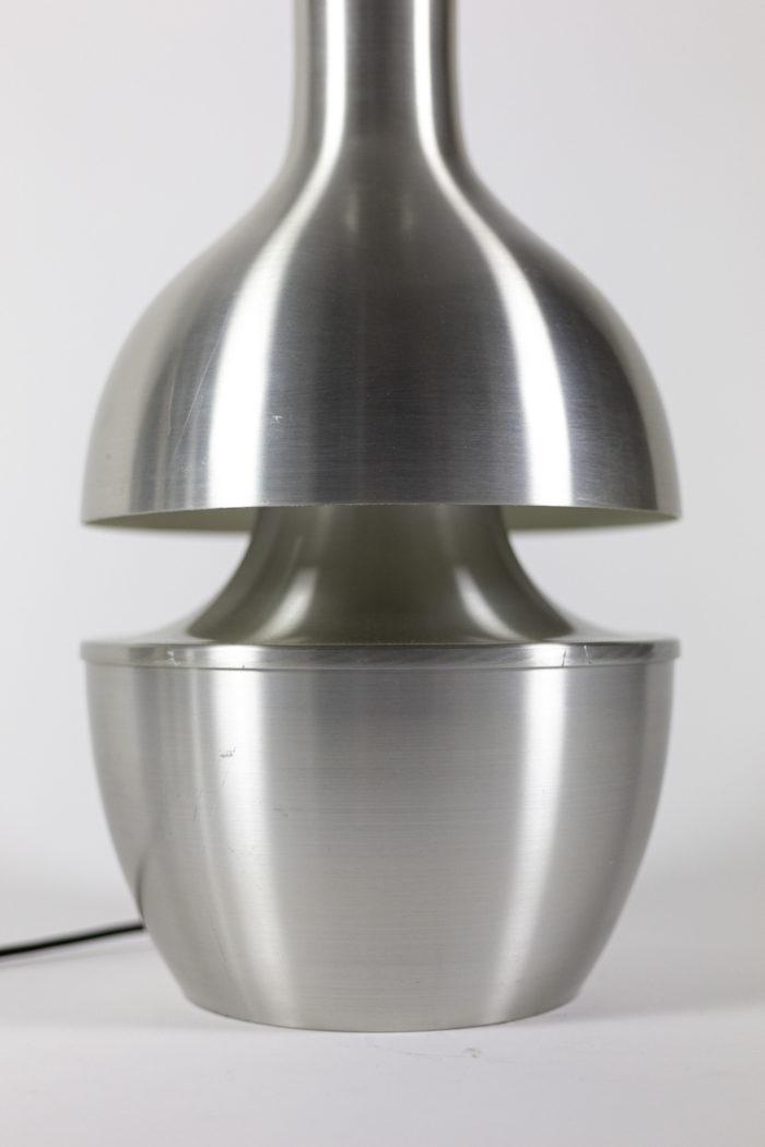 Lampe inox brossé base