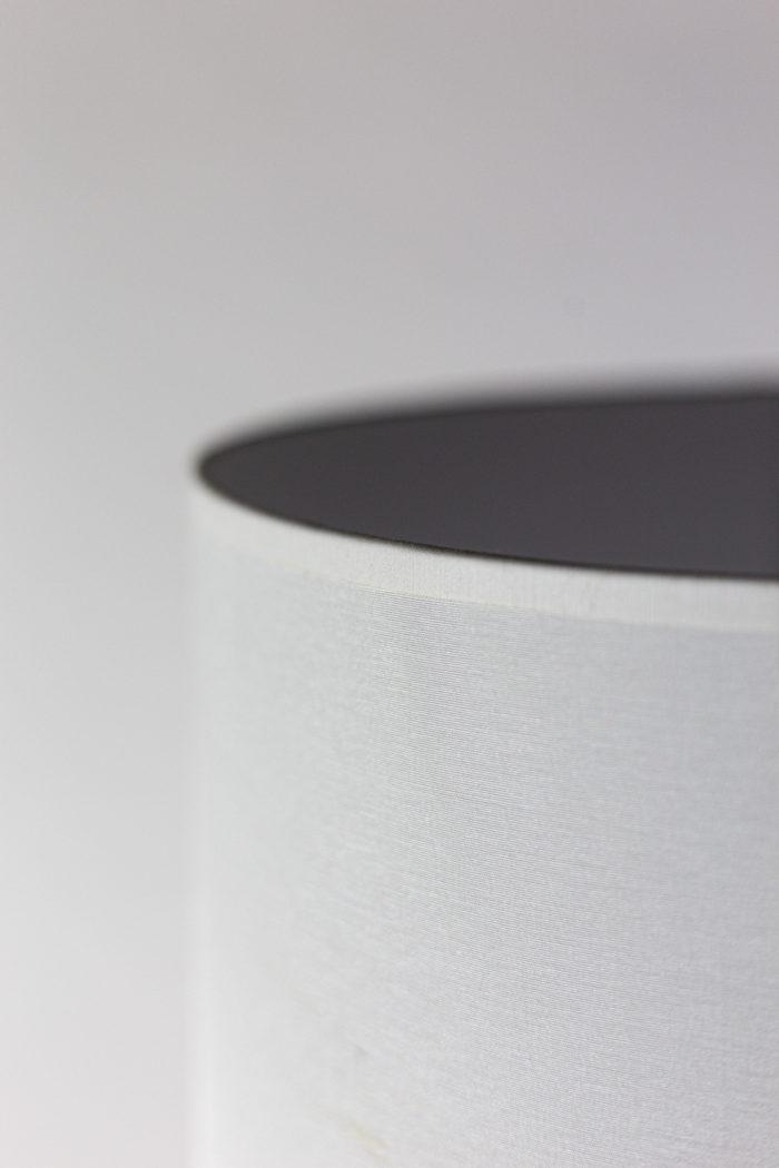 Lampe inox brossé détail abat-jour