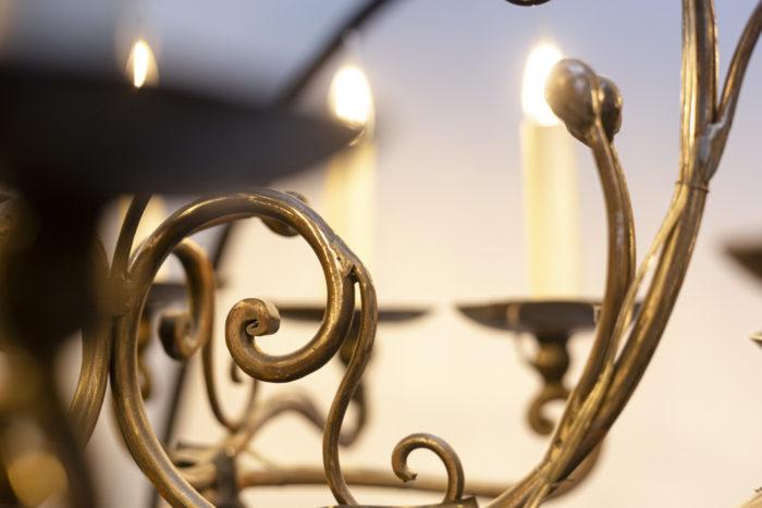 Lustre style Louis XV bras de lumière