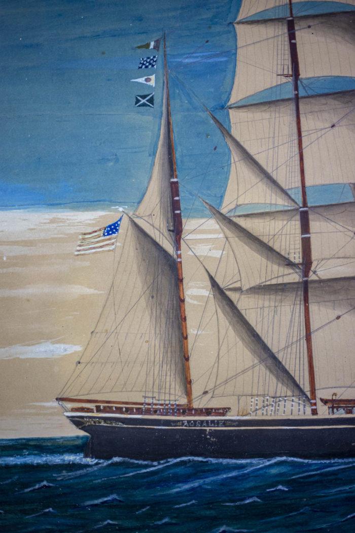 Marine Rispoli navire américain détail 2