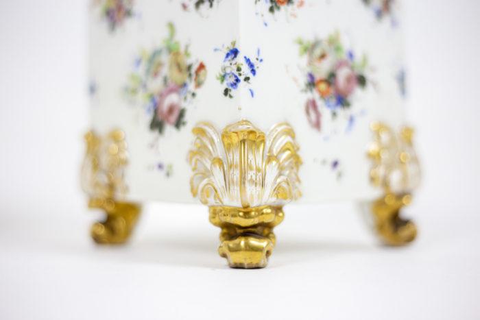 Pair of flasks in porcelain of Paris 4