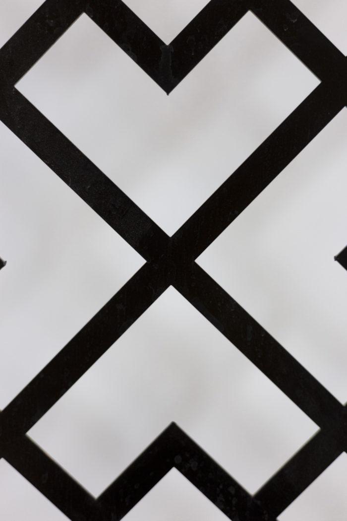 Panneau métal laqué détail 1