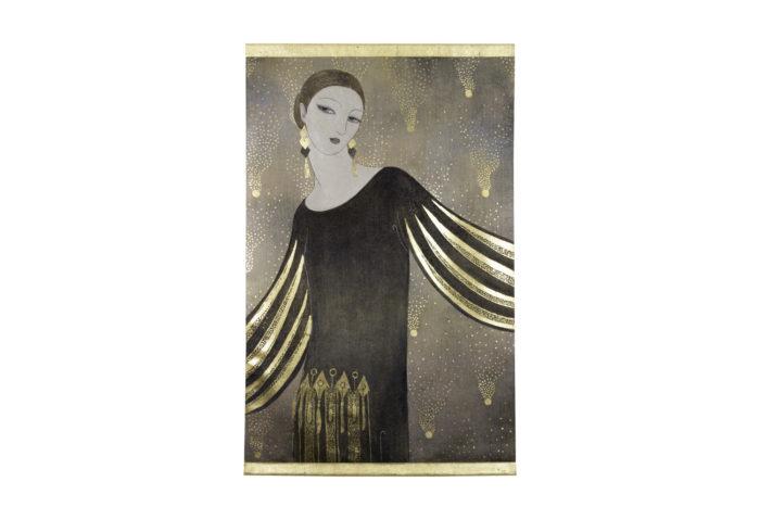 Portrait femme Art Déco ensemble