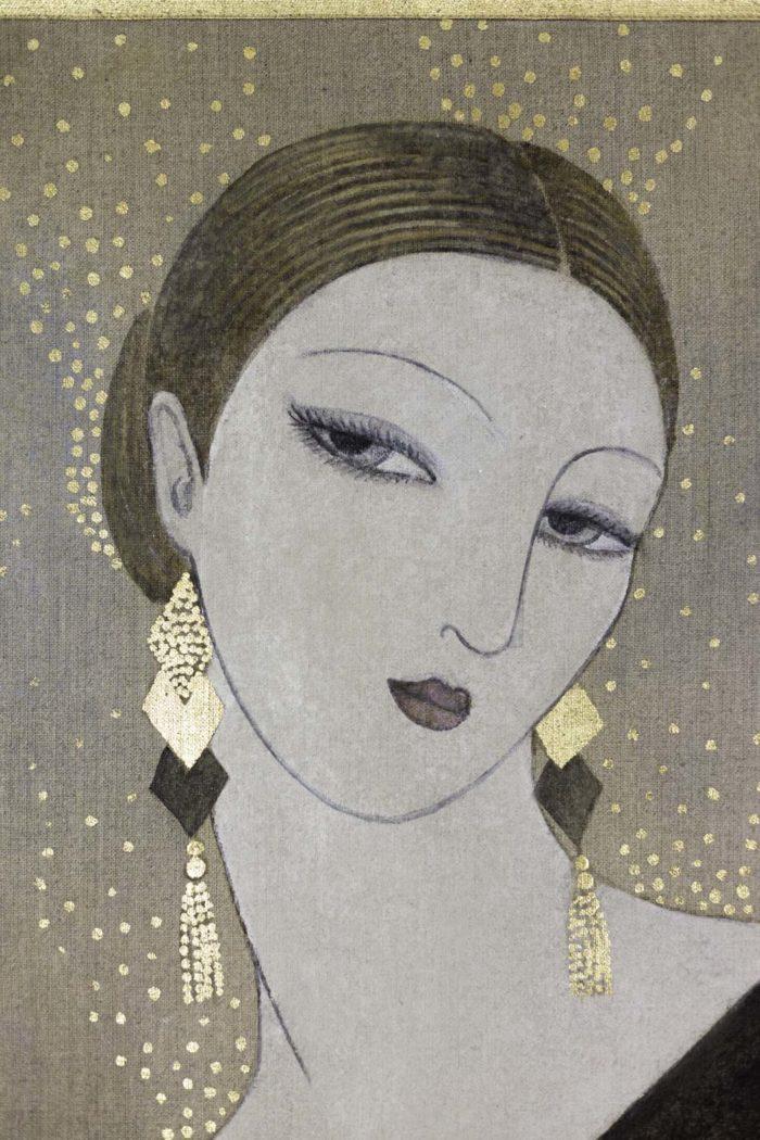 Portrait femme Art Déco tête