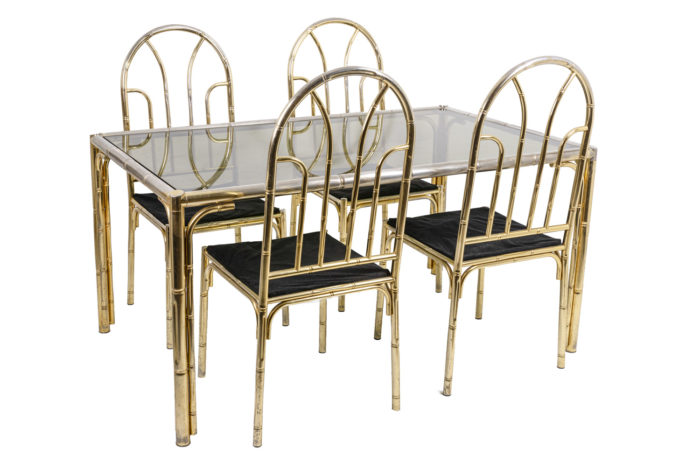 Bamboo table and chairs 1