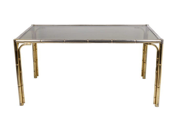 Table bambou sans chaises face