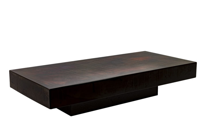 Coffee table in red and black lacquered wood 1