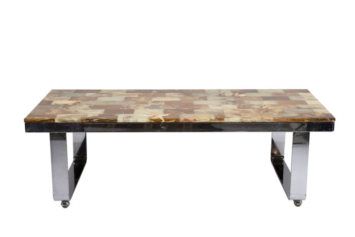 Table basse onyx face