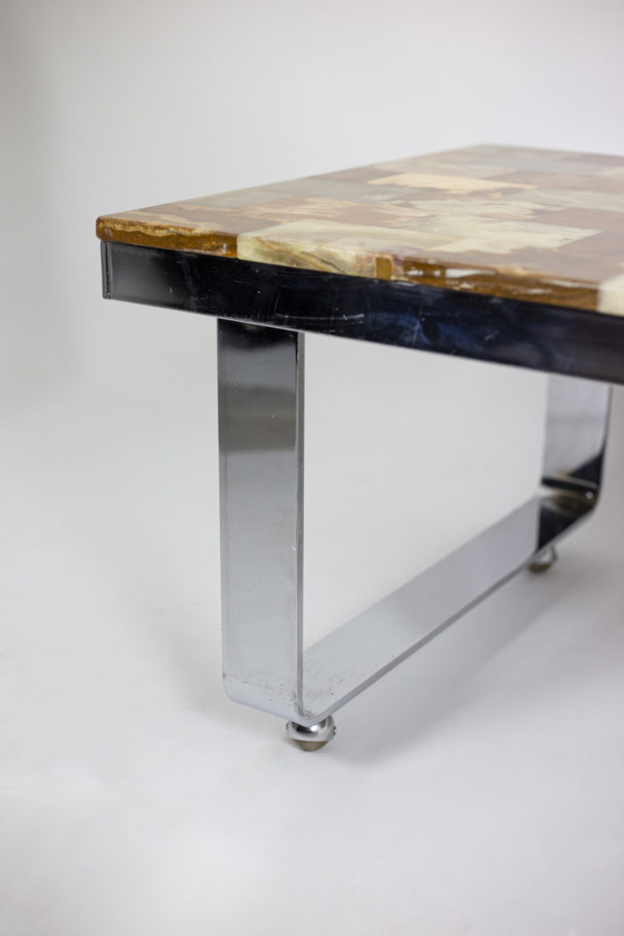 Table basse onyx pied 1