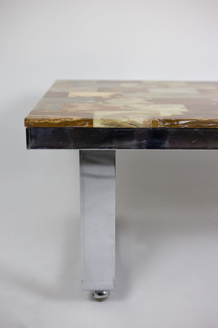 Table basse onyx pied 2