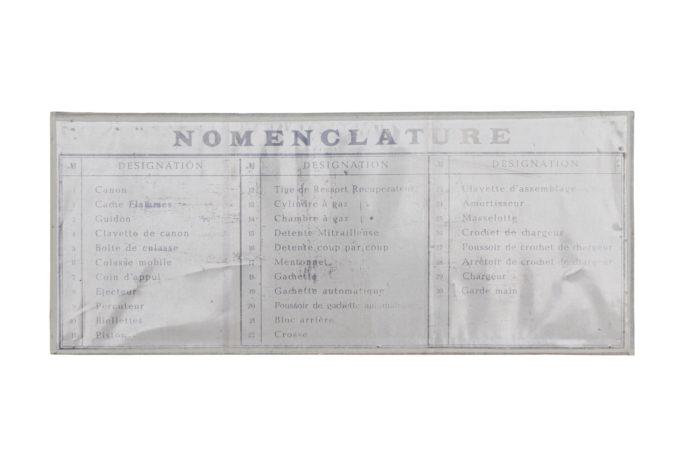 Tableau maquette FM MAC 24-29 nomenclature