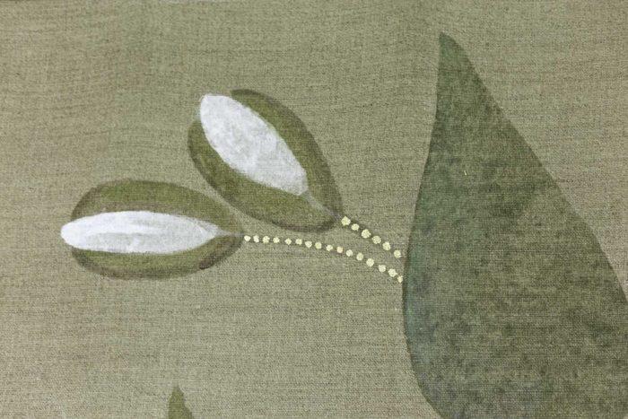 Toile Faisans et écureuil boutons de fleurs