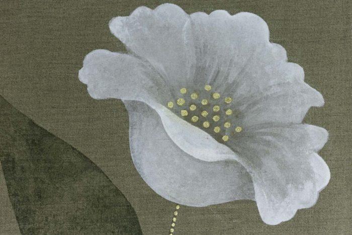 Toile Faisans et écureuil fleur 1