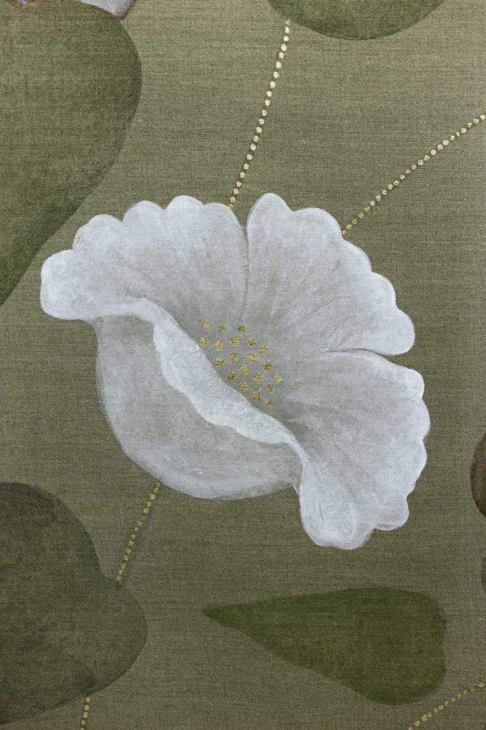 Toile Faisans et écureuil fleur 2