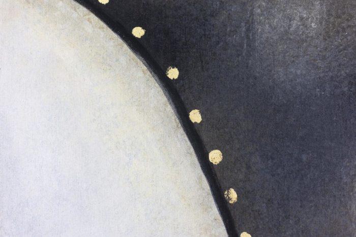 Toile peinte cheval blanc détail crinière