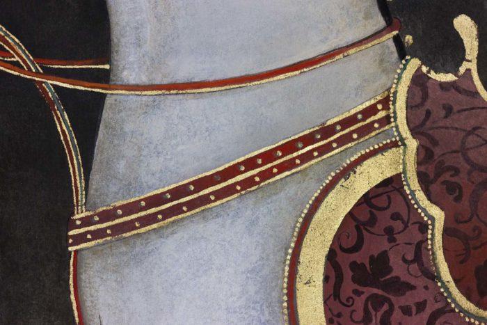Toile peinte cheval blanc encolure