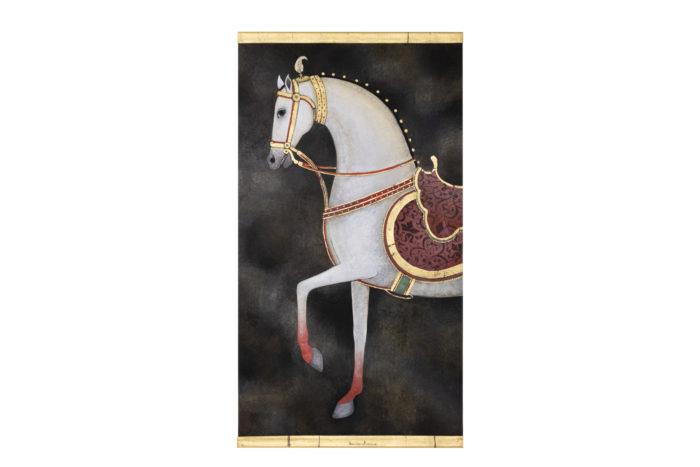 Toile peinte cheval blanc ensemble