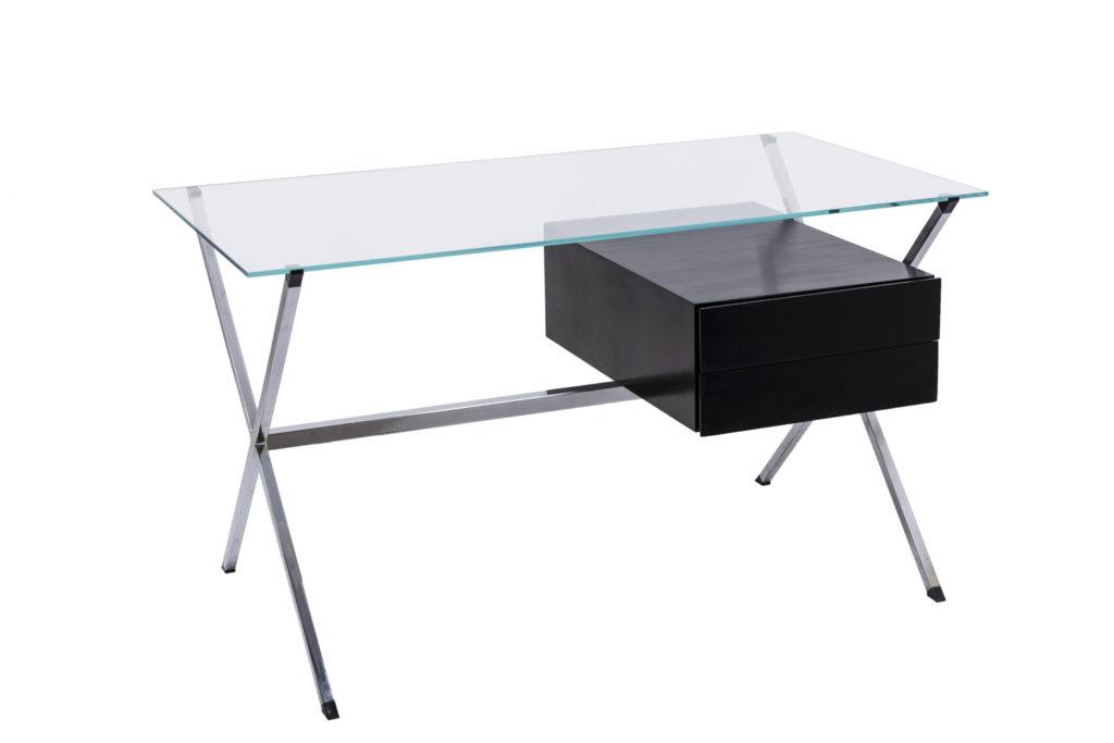 Franco Albini, Model 80 desk in chromed steel and glass, 1949