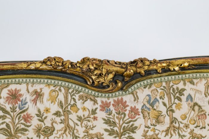 Canapé style Louis XV décor 1