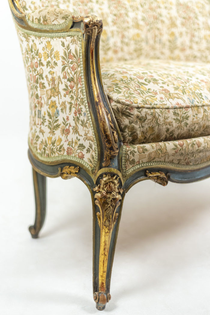 Canapé style Louis XV pied