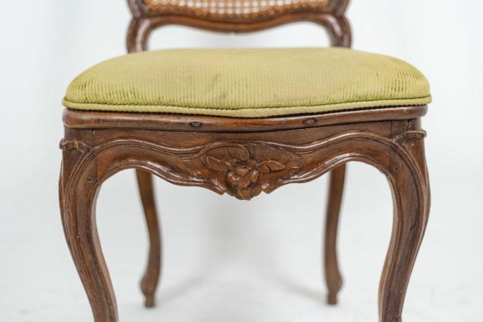 Chaise cannée Louis XV coussin