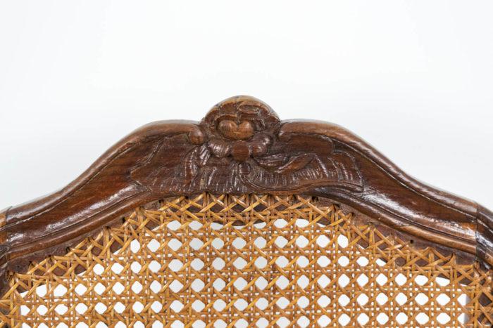 Chaise cannée Louis XV décor