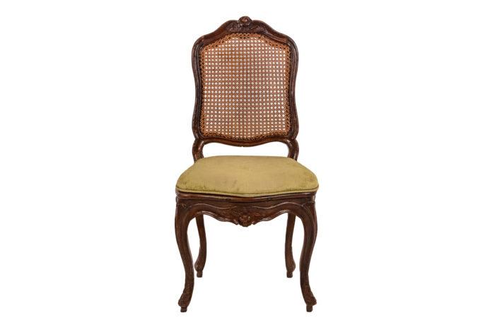 Chaise cannée Louis XV face