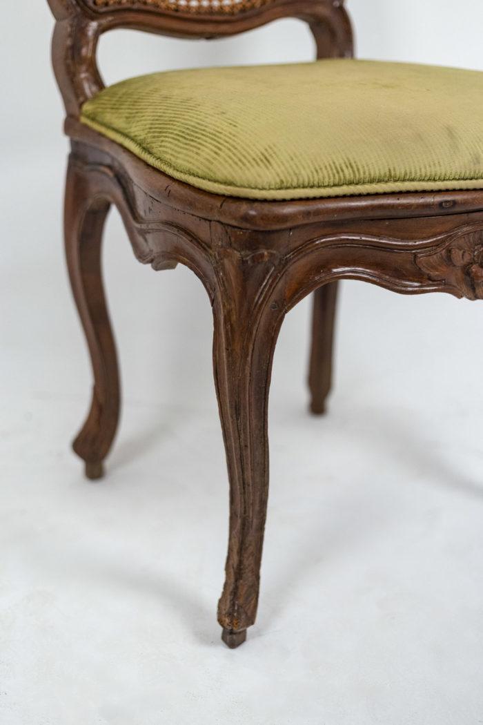 Chaise cannée Louis XV pied