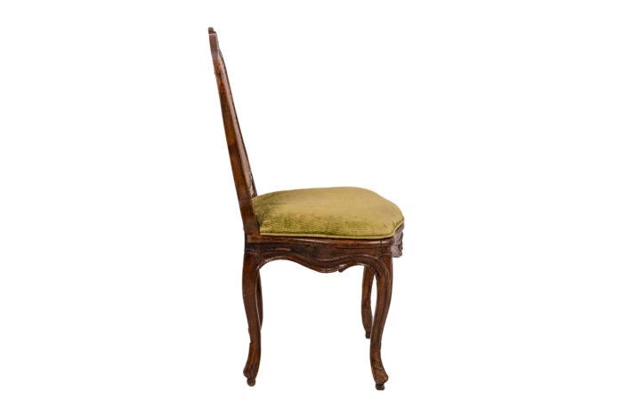 Chaise cannée Louis XV profil