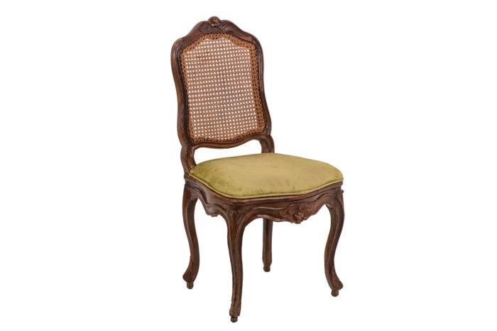 Chaise cannée Louis XV trois quarts