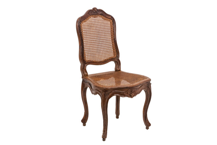 Chaise cannée Louis XV trois quarts sans coussin