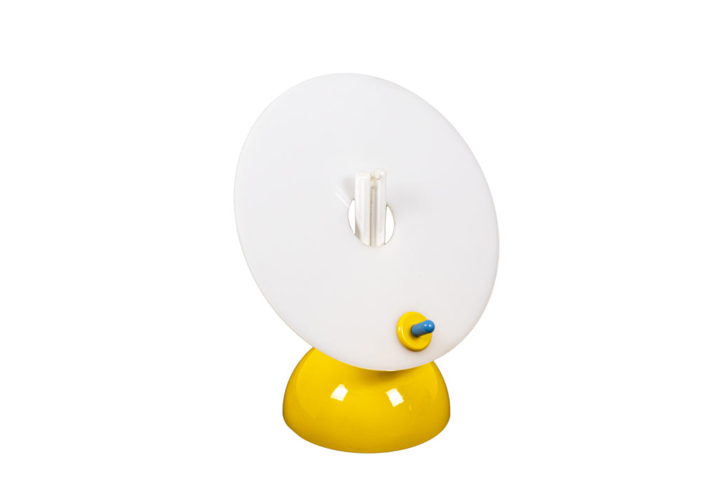 Memphis Milano, Lamp in yellow blue and white lucite, 1980's