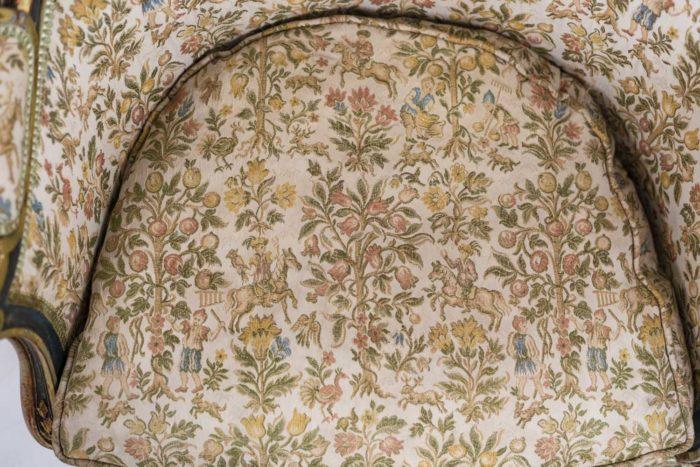 Paire de bergères Louis XV assise