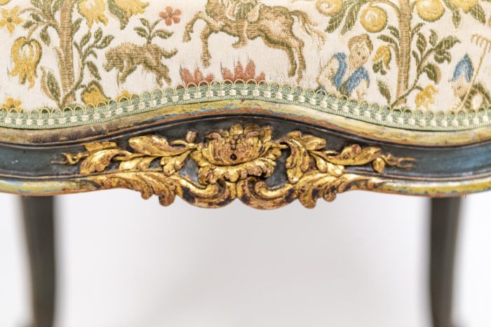 Pair of Louis XV style bergeres 10