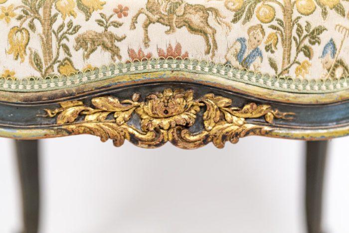 Paire de bergères Louis XV ceinture