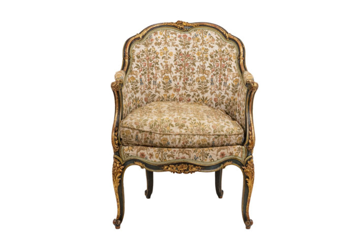Pair of Louis XV style bergeres 4