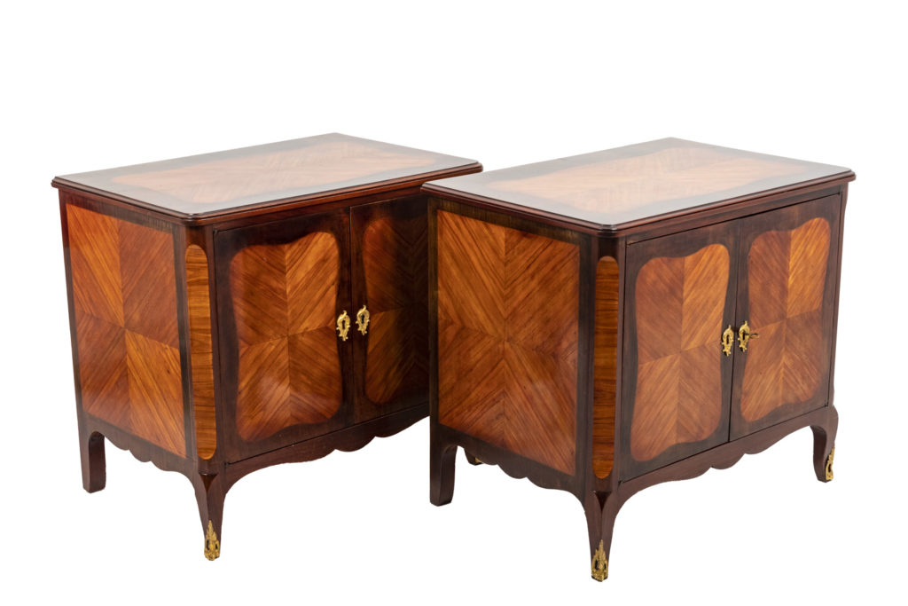 Pair of Louis XV style buffets in kingwood, circa 1900