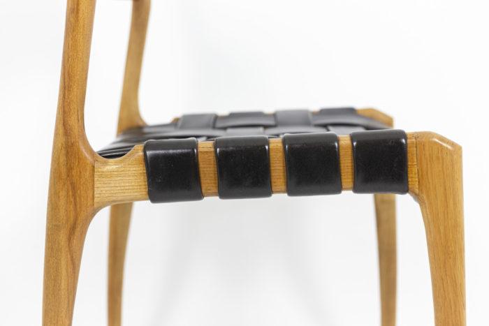 Chaise scandinave, détail assise