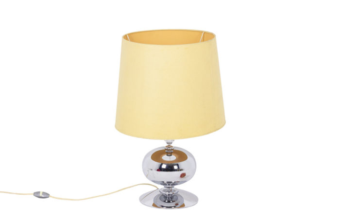 Lampe inox années 70